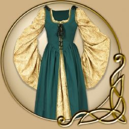 Costume - Green Dress with Detachable Sleeves